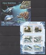 B167 2012 MOCAMBIQUE FISH & MARINE LIFE VIDA MARINHA EM VIAS EXTINCAO KB+BL MNH