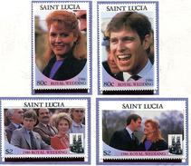 Ste Lucie ** N° 821 à 824 - Mariage Du Prince Andrew -