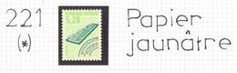 Préo 221 (*) - Papier Jaunâtre Au Lieu De Blanc