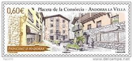 ANDORRA FRANCESA 2012 - PLACETA DE LA CONSORCIA   - YVERT Nº 725 - Andorra Francesa