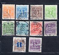 8818 Dänemark Danmark Portomarken Mi 9-16, 18-19  Gest. - Postage Due