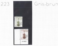 Préo 223 ** - Variété Moderne Gris-brun Au Lieu De Marron Foncé.