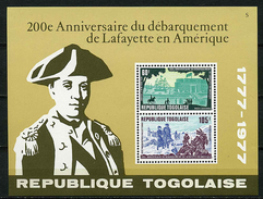 Togo ** Bloc N° 111 - Ann. Du Débarquement De Lafayette En Amérique  -