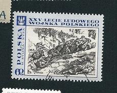 N° 1727 25 Années Armée Du Peuple (60)   Timbre  Pologne Neuf/oblitéré Polska 1968