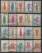 BELGISCH CONGO 1948-1951 - INDIGENOUS ART - MASKS - LOT OF 20 DIFFERENT - OBLITERE USED GESTEMPELT USADO - Culture