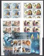 A232 2011 BURUNDI FAMOUS PEOPLE MUSIC CHANTEURS CELEBRES 1KB+10SET MNH