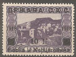 1918 - SHS - BiH  Red. Sa Pre Tiskom 10 Kruna  MNH (**)