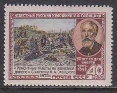 USSR 1955 - K. Sawizkij, Maler, Mi-Nr. 1750C, MNH**