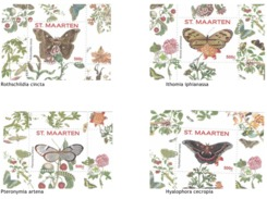 Sint Maarten 2016, Butterflies VII Flowers, 4BF