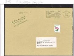 Préo 240 - Variété Moderne Sur Lettre Ayant Circulé, Piquage Décalé De 1998.
