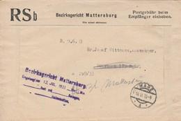 Autriche Lettre De Service Taxée 1933
