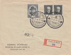 Tchécoslovaquie Lettre Recommandée Praha 1937
