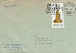 Germany Cover.   Postmark : Hattingen 1.   Briefmarken - Ausstellung.   H-969