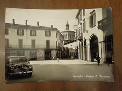 Treviglio  -  Piazza L. Manara  -  Cartolina Anni 1950 - Bergamo