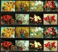 226. BHOUTAN ~ Emission Du 6 MAI 1970 : Tableaux De Fleurs, 16 Valeurs Non Dentelés, Neufs**. MNH. Fraîcheur Postale.