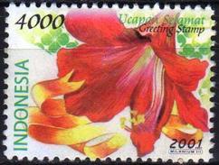 Indonesia 2001 1 V Used Flower Flowers
