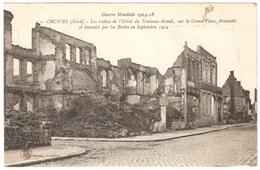 Orchies - Guerre Mondiale 1914-18 - Ruines De L'Hôtel Du Nouveau-Monde, Sur La Grand'Place, ... - 1922 - Ed. LS Hautmont - Orchies