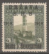 1918 - SHS - BiH  Red. Sa Pre Tiskom 2 Kruna MNH (**)