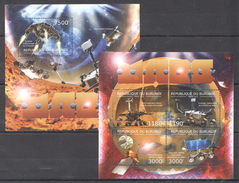 A241 2012 DU BURUNDI SPACE MARS CURIOSITY 1KB+1BL MNH