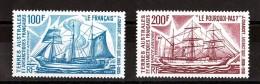 TAAF - 1975 - Poste Aérienne N° 38 Et 39 - Neufs * - Bateaux - Cote + 30 - Airmail