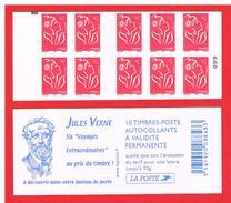 FRANCE - 2005 - CARNET N° 3744-C5a -NEUF** NON PLIE AVEC CARRE NOIR - Marianne De LAMOUCHE - TVP - Y&T - COTE : 45,00 € - Carnets