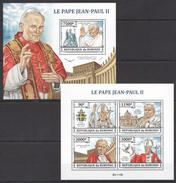 A244 2013 BURUNDI FAMOUS PEOPLE LE PAPE JEAN-PAUL II 1KB+1BL MNH
