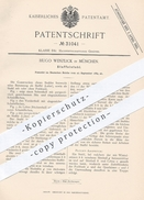 Original Patent - Hugo Wenzlick , München , 1884 , Staffelstuhl | Stuhl , Stühle , Leiter , Fußbank , Bank , Möbel !!! - Historische Dokumente