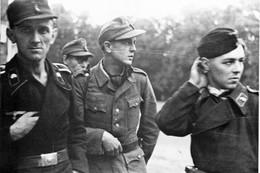 Militaria WW2  - Bourgthéroulde 25.8.44 - Tankistes Et Grenadiers Du IIème SS-Panzerkorps - 1939-45