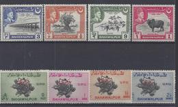 ETATS PRINCIERS - BAHAWALPUR - 1942 - Poste 18/21 + Service 25/28 - Neufs - XX - MNH - TB - COTE 148.00 € - 13% -