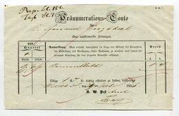Wuerttemberg / 1855 / Postschein Hs. Wildbad, Praenumerations-Conto (4418)