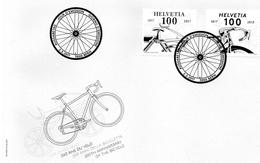2017 Svizzera - Storia Della Bicicletta - FDC