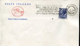 18735 Italia,special Postmark Slogan 1961 Ambulant Post Office,for The Cycling Stage Trieste/vittorio,tour Of Italy - Ciclismo