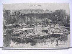 29 - BREST - LE CHATEAU - ANIMEE - BATEAUX MILITAIRE - 1918 - Brest