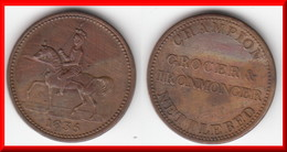 *** GREAT-BRITAIN - ENGLAND - JETON - TOKEN - 1835 CHAMPION GROCER & IRONMONGER NETTLEBED *** ACHAT IMMEDIAT !!! - Professionals/Firms