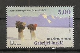 BOSNIA AND HERZEGOVINA 2014,POST MOSTAR,CROATIA BOSNIA,GABRIEL JURKIČ,PERSON,MNH