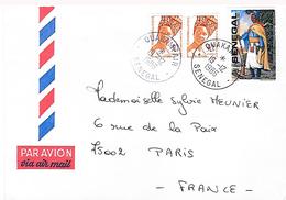 Lettre De Ouakam Pour Paris. Bel Affranchissement. - Sénégal (1960-...)