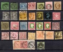Anciens Etats Allemands Belle Petite Collection 1850/1870. Bonnes Valeurs. A Saisir!