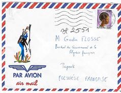 Lettre De 1993 Pour La Polynésie (voir Le Destinataire !) - Burkina Faso (1984-...)