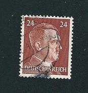 N° 716 ALLEMAGNE Hitler 24p Brun Jaune 1941-43 N°716  Adolf Hitler   Timbre  Allemagne  Oblitéré - Deutschland