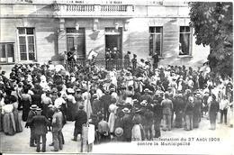 Francia- Cours La Ville - Auvergne - Commemorativa Manifestaz. Del 27 Agosto 1908 - Cours-la-Ville