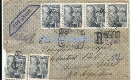 66932 SPAIN ESPAÑA MADRID REGISTERED YEAR 1935 CIRCULATED TO ARGENTINA NO POSTAL POSTCARD - Spanien