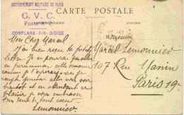 Carte Avec Cachets Griffe Du Gouvernement De Paris
