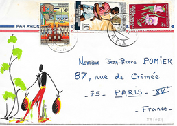 Lettre De 1972 Pour Paris. TTB - República Centroafricana