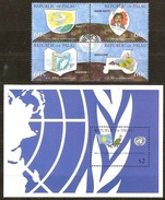 Palau  1995 Yvertn° 836-839 Et Bloc 32 Cote 13,50 Euro Nations Unies - Palau
