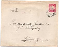 Allemagne Bavière 1895 Lettre Entier Postal  Voyagé  Gehren (00761-62)