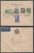 INDE - CONSULAT ROYAL D' IRAQ / LETTRE AVION POUR L' AFRIQUE DU SUD (ref 7458)