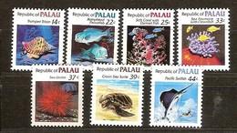 Palau  1985 Yvertn° 45 Et 69-74 *** MNH Cote 8,90 Euro Faune Marine - Palau