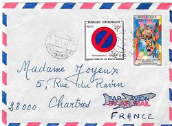 Lettre De Bangui 1981 Pour Chartres. - República Centroafricana