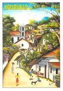 Amérique- HONDURAS Paisaje Tipico Del Pinto Nacinal Pedro TRIMINIO Mountain Village Scene (illustration) *PRIX FIXE - Honduras