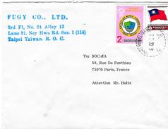 Lettre De Taipei Pour Paris 1983